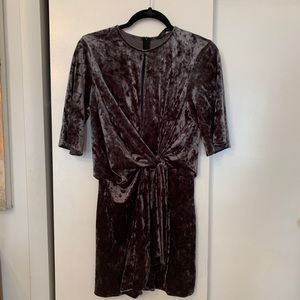 Zara Crushed Velvet Dress